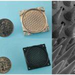 3D-printed nanosatellite  thruster emits a stream of pure ions